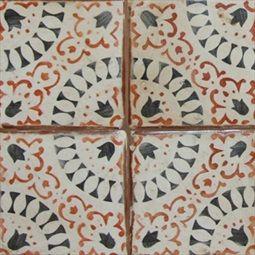 La Terre La Colección características morisco inspirado, baldosas de terracota estarcido a mano que evocan una vieja mirada de mundo, manteniendo un ambiente contemporáneo y versátil