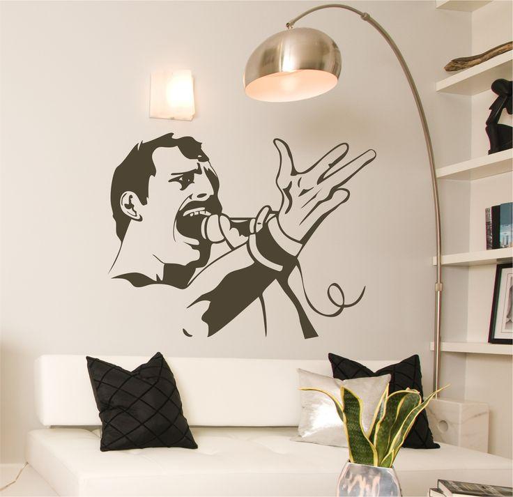 Vinilo decorativo del cantante londinense rockero freddy for Vinilos decorativos grupos musicales