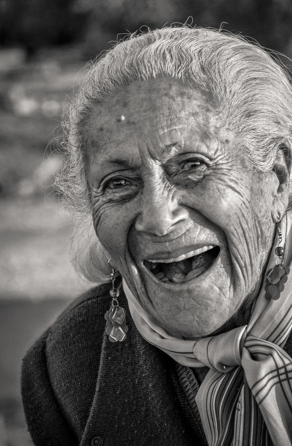 "Eternal Beauty...""96 years Smiling"" by Diego Mena  ---Cuba.  Maybe smiling is the key."
