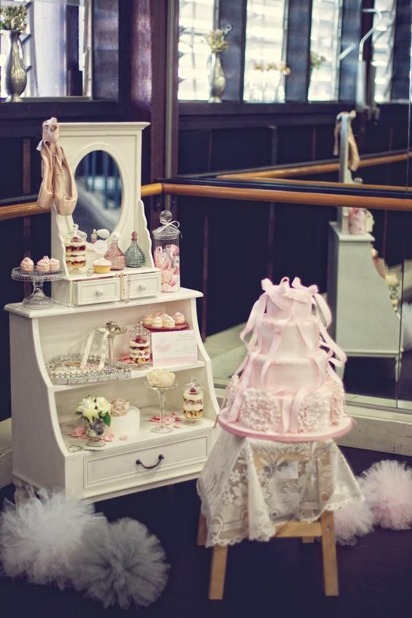 Cake & VanityBallet Birthday, Ballerinas Inspiration, Cake Wedding, Ballet Parties, Parties Ideas, Parties Style, Birthday Cake, Baby Shower, Ballerinas Parties