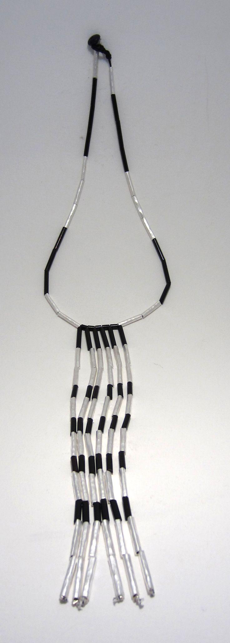 Anna Balasoglou - Piupiu Necklace - sterling silver plated copper and black chrome