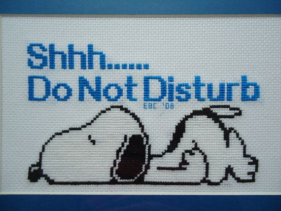 ... Snoopy do not disturb cross stitch pattern - Etsy