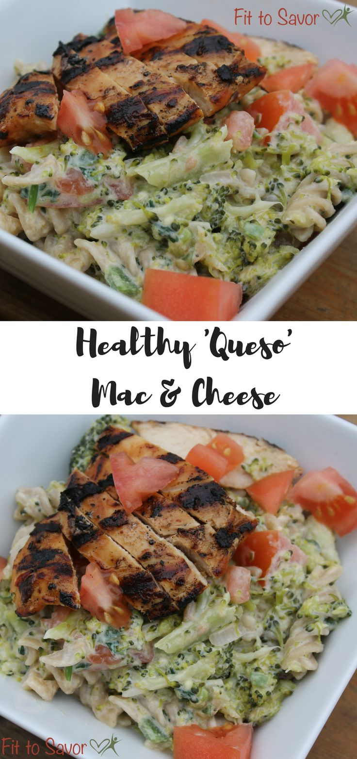 21 Day Fix approved Queso Mac & Cheese. This spicy take on mac and cheese is takes Chipotle Chicken and combines it with noodles and vegetables with a Queso inspired sauce. Oh my God, sooooo amazing. You need to try this easy and clean eating friendly, real food weeknight dinner idea! Plus, the leftovers are great for lunch the next day too!