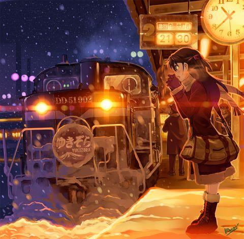 「夜汽車」/「バーニア600」のイラスト [pixiv]