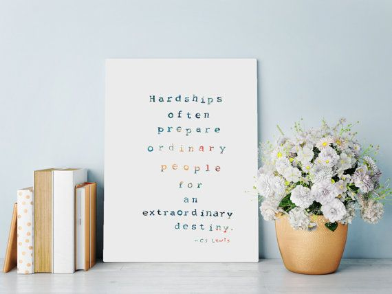 Handlettered+Wall+Art+Print+C.S.+Lewis+quote+by+HartAndWallDesign
