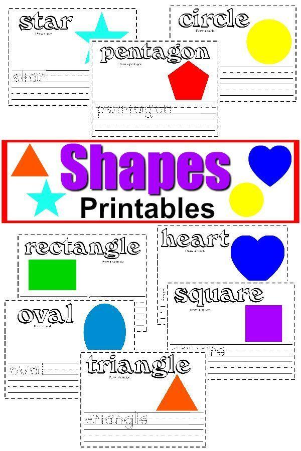 Free Shapes Printable Worksheets + Writing Activities