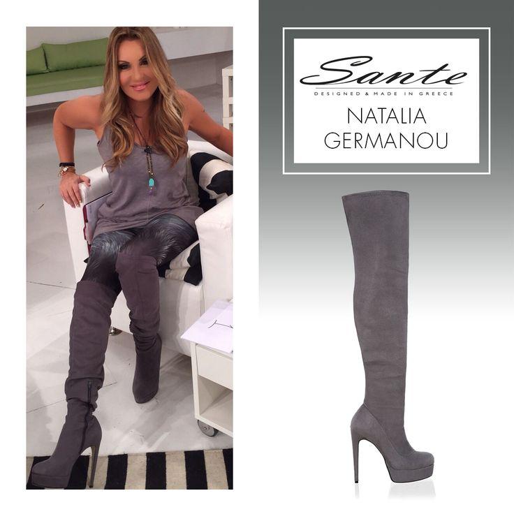 Natalia Germanou in SANTE Booties #BuyWearEnjoy #CelebritiesinSante Shop online: www.santeshoes.com