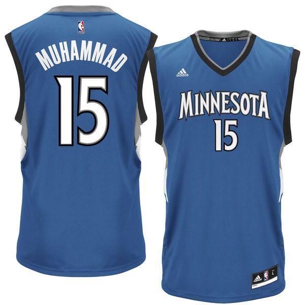 Mens Minnesota Timberwolves Shabazz Muhammad adidas Blue Replica Road Jersey - $69.99
