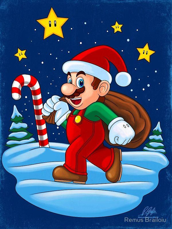 """Mario Xmas"" Photographic Prints by Remus Brailoiu | http://www.redbubble.com/people/remuscb/works/23996297-mario-xmas?asc=u&p=photographic-print&rel=carousel | super mario, santa claus, xmas, christmas, graphic design, posters | #mario #mariobros #supermario #supermariobros #marioworld #xmas #santaclaus #christmas #gaming #graphicdesign #posters"