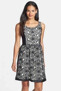 Isaac Mizrahi Isaac Mizrahi New York Lace Fit  Flare Dress