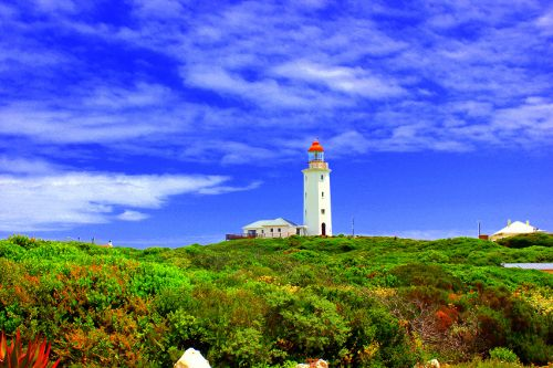 The Gansbaai Lighthouse in all her Glory. http://www.sharkcagedive.com