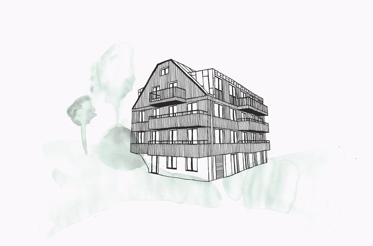 Watercolour and ink illustration for Scandinavian developer Innovation Properties by 25AH