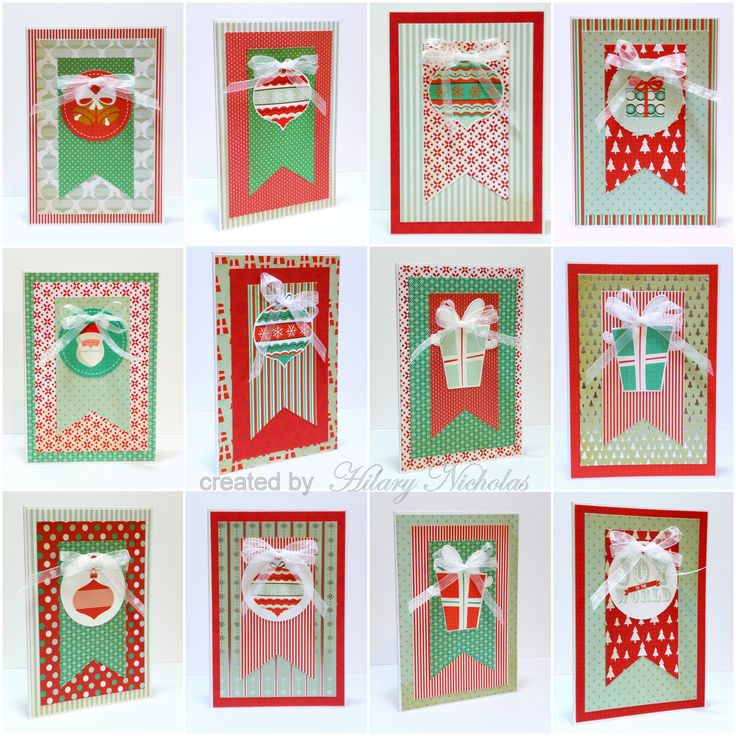 A set of 12 cards made with Kaisercraft's Gingerbread collection