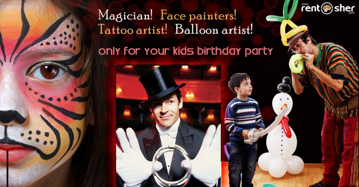 Kids love crazy and funny activities during celebrations and parties. Now you can hire #Magicians, #Facepainters, #Balloon Artists, #Tattoo Artists to add more fun at your little one's #Birthday party. Also you can hire complete Birthday celebration package with Cotton Candy Machines, #Chocolate Fountains, #Pop_corn Machines, Balloon Decoration, Stage setup, #ballpits, #Rollers, #Slides, #Ride-ons, #SeeSaw, Baby Tunnels, Hopper Balls, Magician, Artists on rent at affordable cost across…