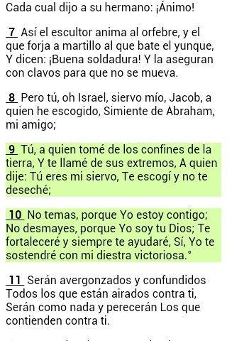 Versículo del día isaias 41:9-10 excelente lunes bendiciones....