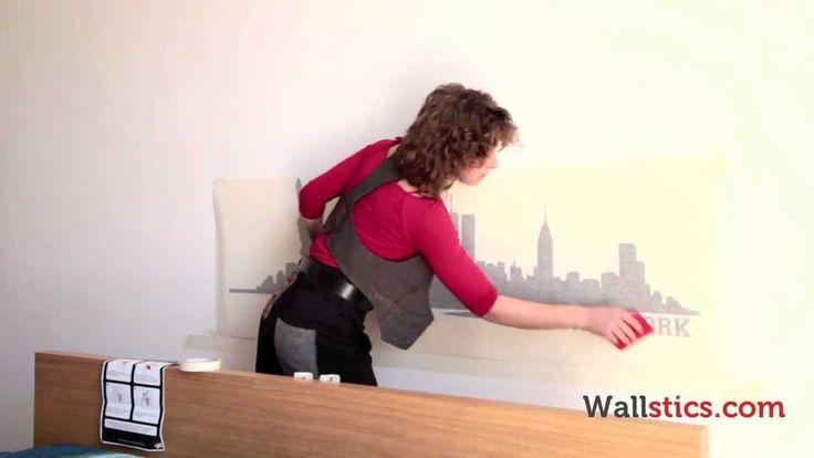 Wallstics - Istruzioni per applicare gli Adesivi d'Autore di Wallstics.com