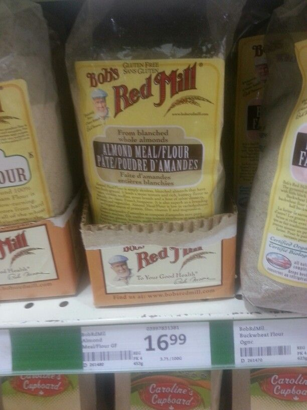Product: Bob's Red Mill Almond meal/flour.  Store: Sobey's (Scott Street, St. Catharines).  This product is sometimes needed for low FODMAP recipes (see recipe boards).  Neal Glauser, RD