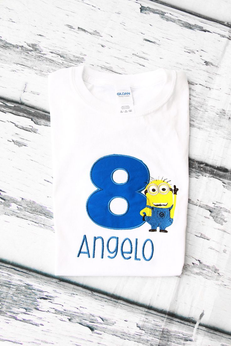 Boy eight birthday Despicable Me Minion themed 8th birthday minion shirt boy  birthday Shirt Boy number 8 Jerry Minion Shirt ANY AGE by LoveAndLollipopsBaby on Etsy