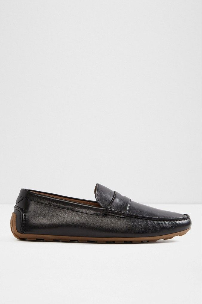 Mens Aldo Leather Driver Loafers Black Loafers, Leather  Loafers, Leather