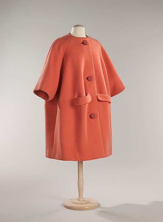 Cocktail Coat 1960, French, Made of wool