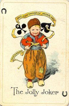 "from ca 1913 until ca 1925 ""the little farmboy"" - Speelkaartenfabriek ""Nederland"""
