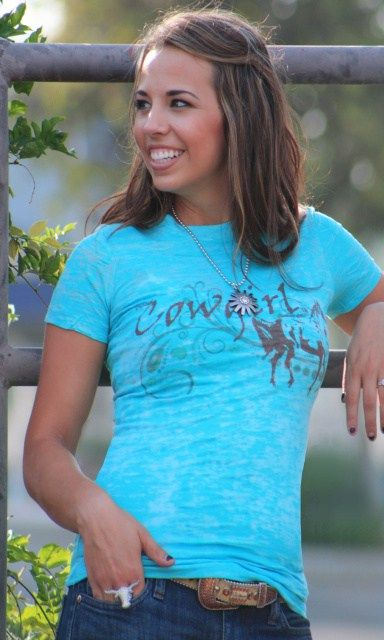 Cowgirl Clothing Burnout Tee's - Cowgirl's Western Wear