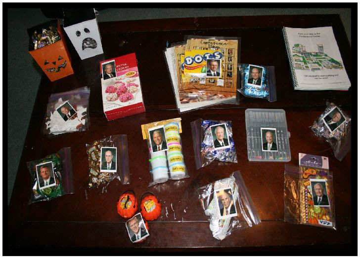 """""""Our family has a lot of fun with conference: conference cookies, cupcakes, BINGO and notebooks that we make. To make it even more exciting I put pictures of the apostles and prophets on treat baggies and they get to have    that treat during that talk."""