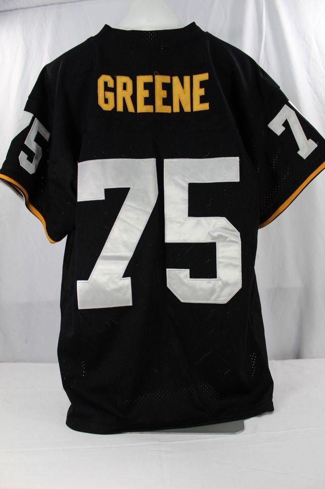 Pittsburgh Steelers Joe Greene  75 Black Jersey 1975 Mitchell   Ness 50  Stitched  MitchellNess  PittsburghSteelers 2fba7485a