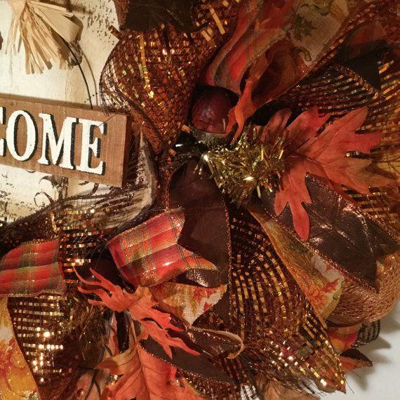Deco malla guirnalda para decoración de acción de gracias