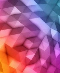 rainbow polys pattern android wallpaper