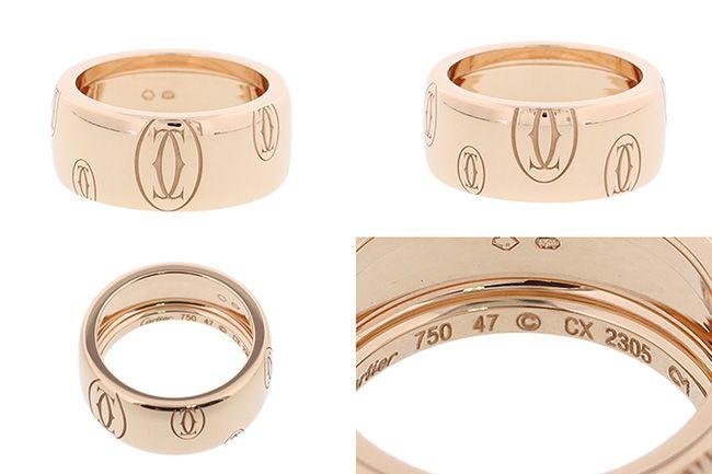カルティエスーパーコピー ハッピーバースデー リング LM PG ピンクゴールド 18K 指輪 アクセサリーB4056823