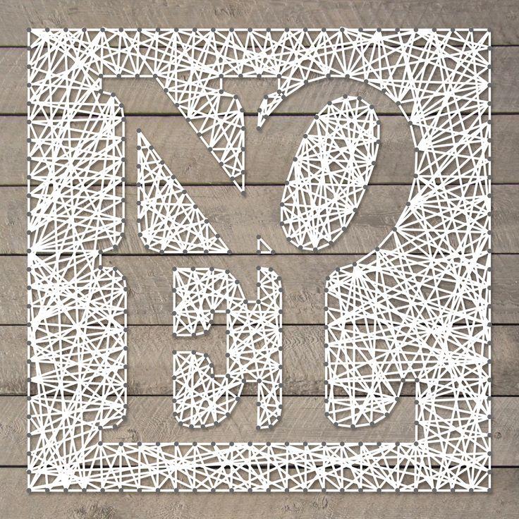 String-art pattern sheet NOËL (50 x 50cm)