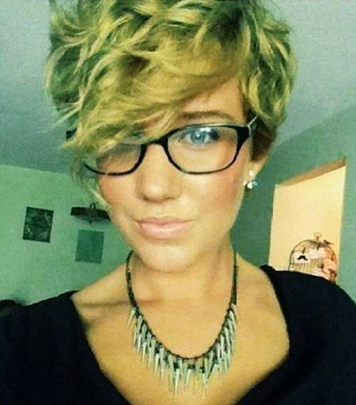 Pixie Cut for Curly Blonde Hair