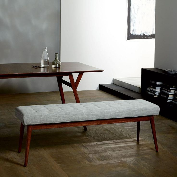 Dining Table Storage Bench: Tufted Dining Bench