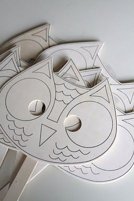 decorate owl masks - from JoAnne's
