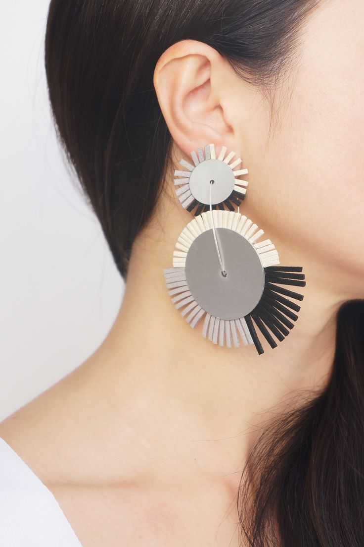 CHRISTINA BRAMPTI - WHEEL DROP EARRINGS #ozonboutique #wheel #drop #earring #brampti #handmade #jewellery