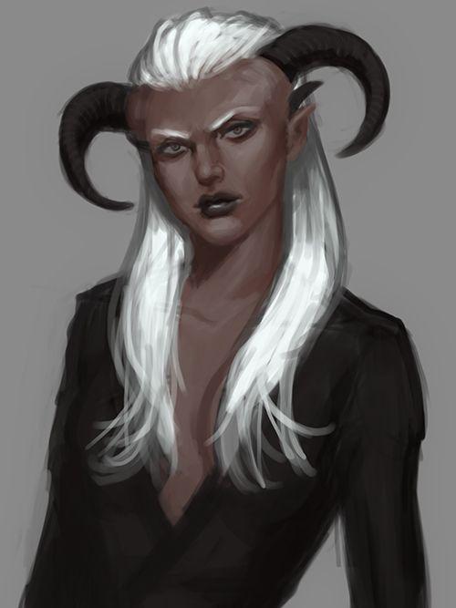 female qunari mage fan art - Google Search | Dragon Age ...