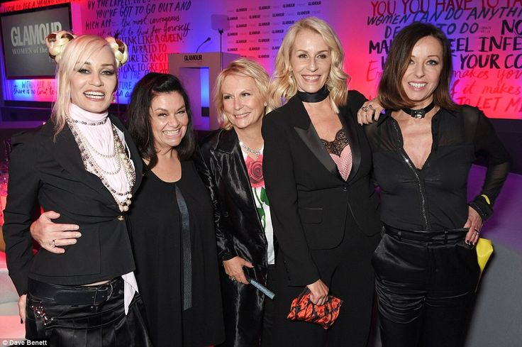Time to celebrate! Siobhan Fahey, Dawn French, Jennifer Saunders, Sara Dallin and Keren Wo...