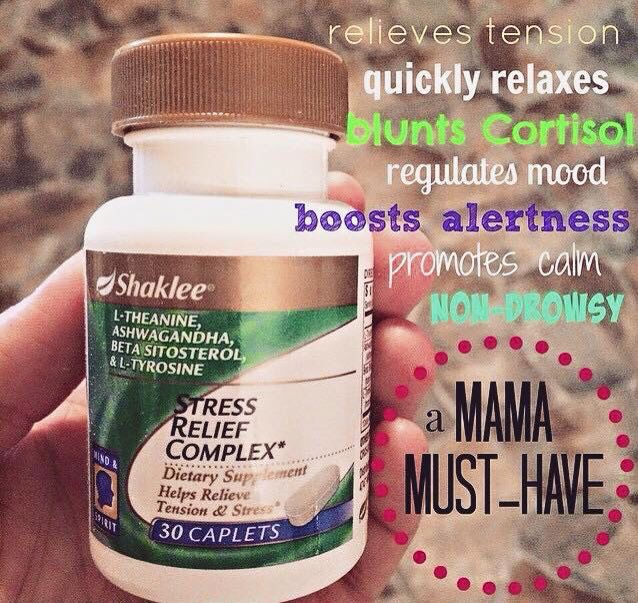 Natural stress relief from  Shaklee!! See this and more awesome products at http://mjshealthyway.com