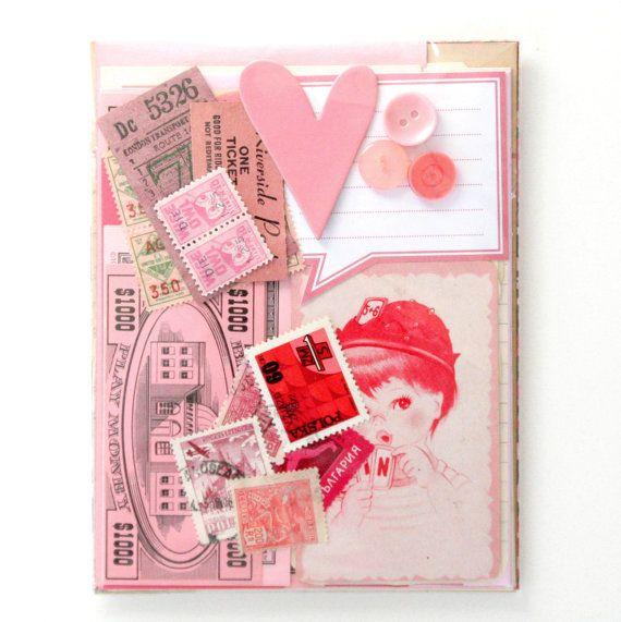 Pink Collage Pack by saturdayAMvintage on Etsy