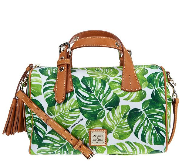With its adjustable, removable strap, the Dooney & Bourke Montego satchel handbag offers up a number of chic ways to wear it. From Dooney & Bourke. QVC.com