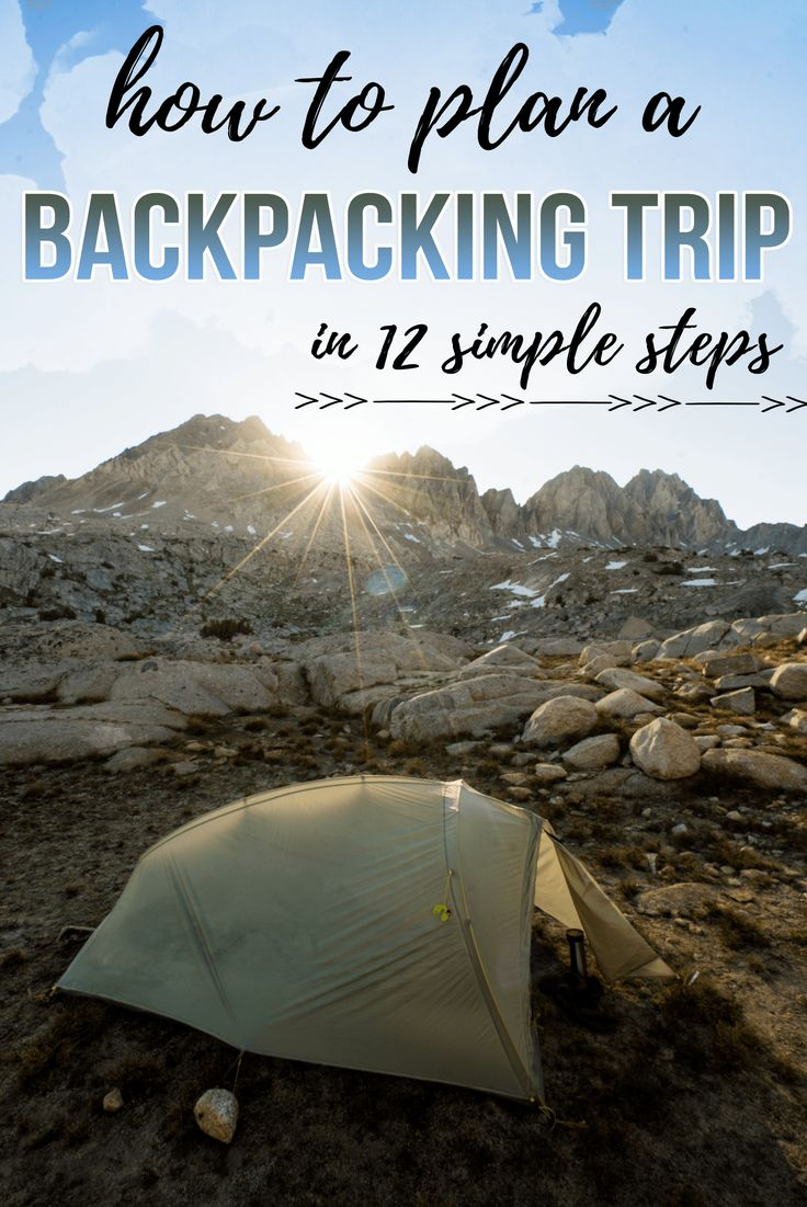 Learn how to plan a backpacking trip! From picking a trail to gear and food, this guide will take you through each step of the backpacking planning process.