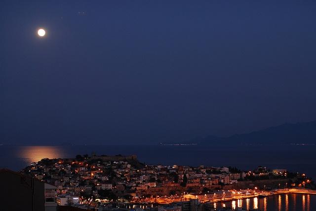 Kavala during twilight