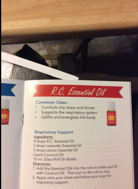 Young Living Oil 'RC' uses