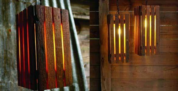 Riciclare vecchi pallet usati in legno per creare una lampada - BCasa