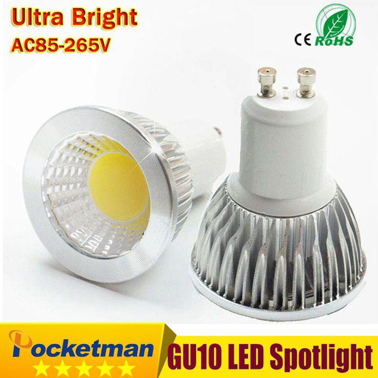 Ampoule LED GU10 COB Led Spot Light 6 W 9 W 12 W GU10 led Spotlight Ampoule lampe lumière Dimmable AC85v-265v Super Lumineux livraison gratuite