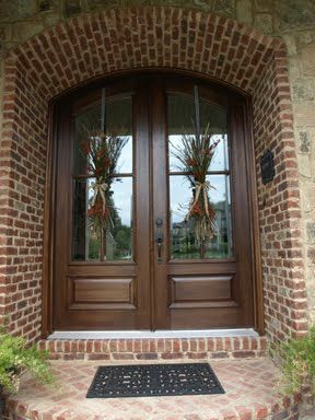 Like The Wood Color For Front Door Projects Double Doors Outside House Decor Wreaths