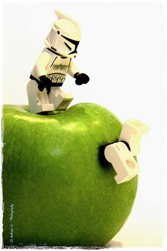 "LEGO Express — LEGO stormtrooper mischief ""Go through to the..."