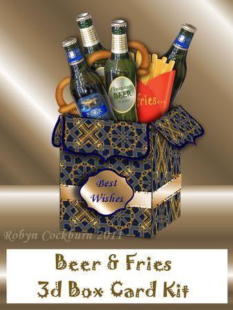 Beer & Fries - 3D Box Card Kit