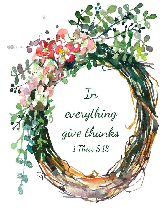 1 Thessalonians 5:18, instant download, In Everything Give Thanks, Thanksgiving printable art, Bible verse quote, scripture wall art